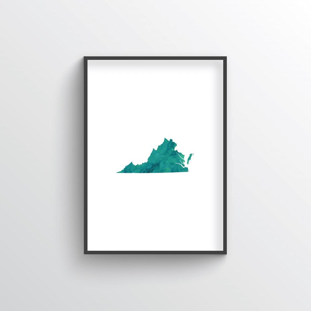 "Virginia Word Art - ""Watercolor"""