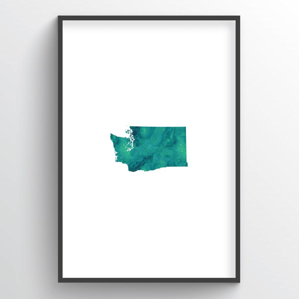 "Washington Word Art - ""Watercolor"""