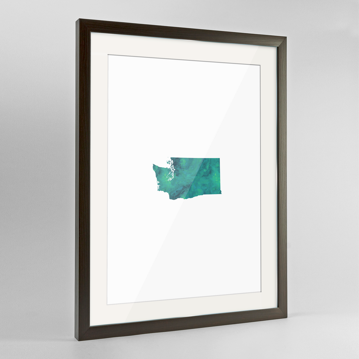 "Washington Word Art Frame Print - ""Watercolor"""