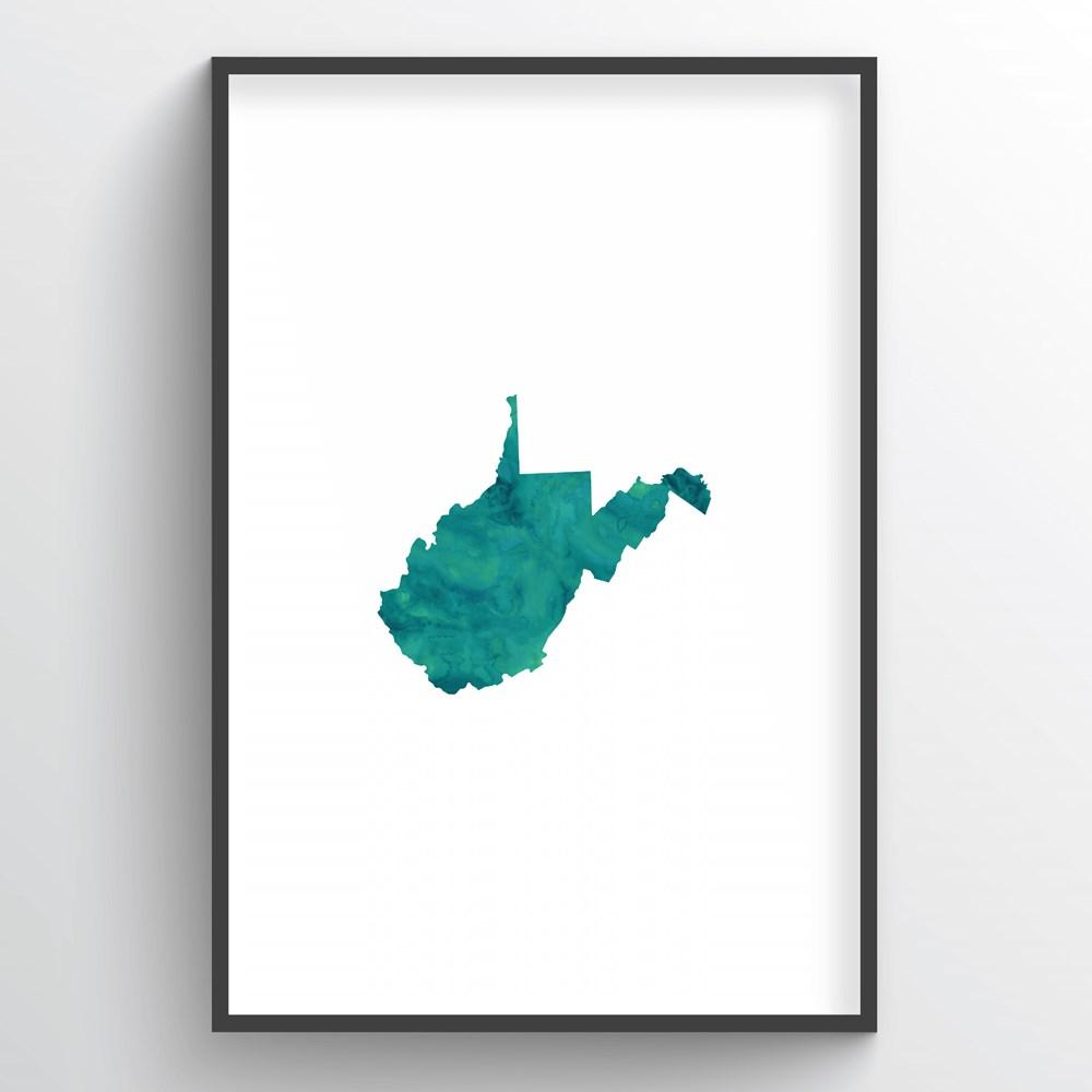 "West Virginia Word Art - ""Watercolor"""