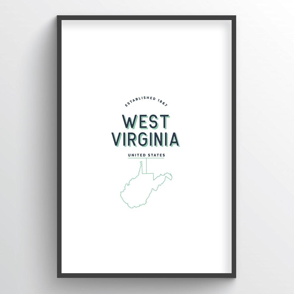 West Virginia Word Art