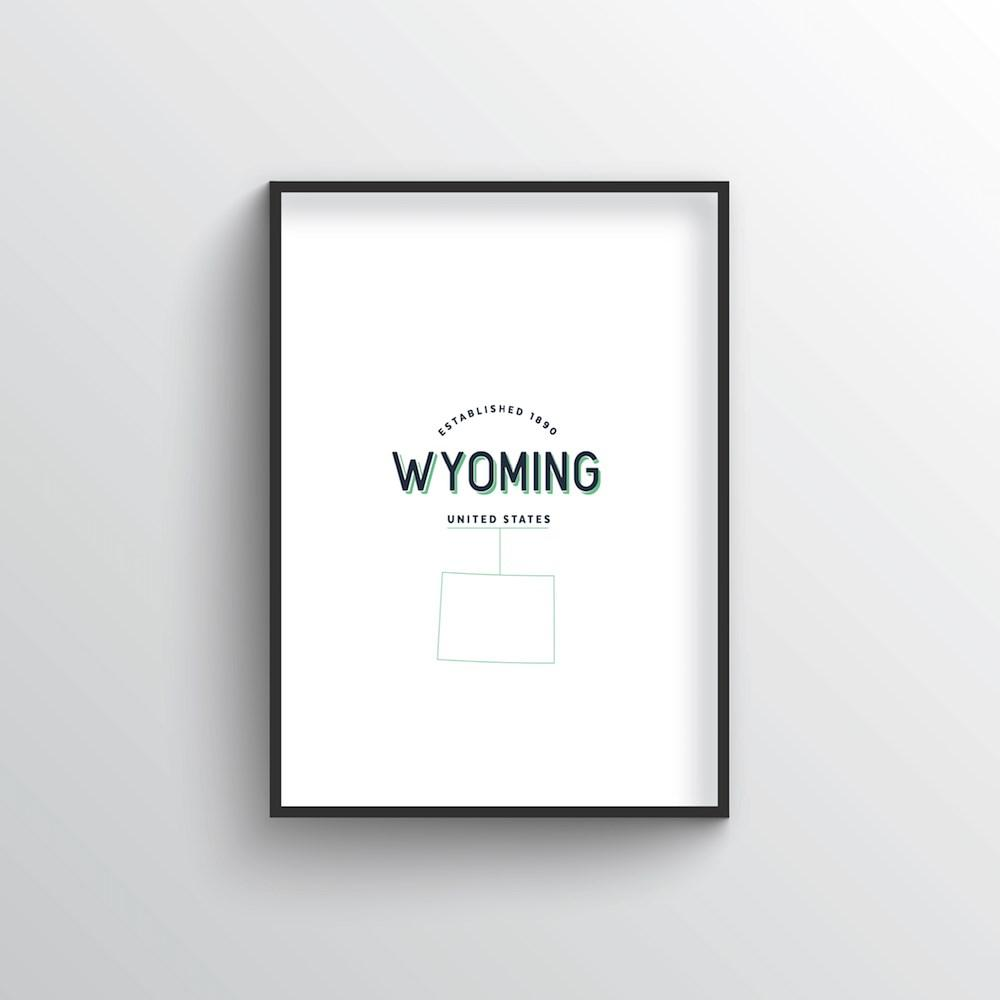 Wyoming Word Art