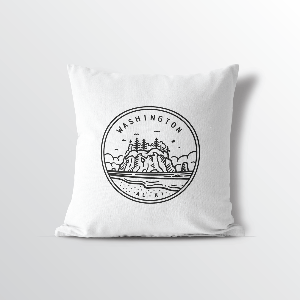 Washington State Crest Throw Pillow