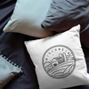 Wisconsin State Crest Throw Pillow