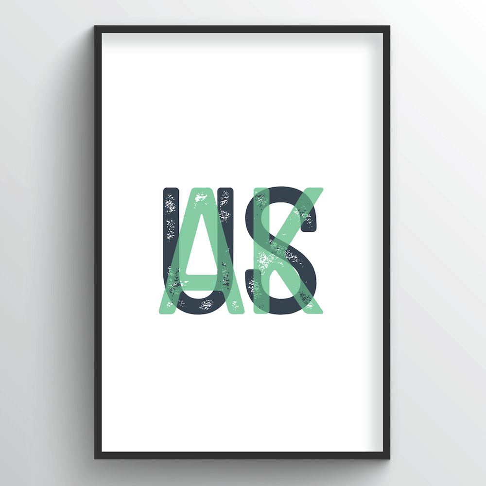 "Alaska Word Art Print - ""Initials"" - Point Two Design"