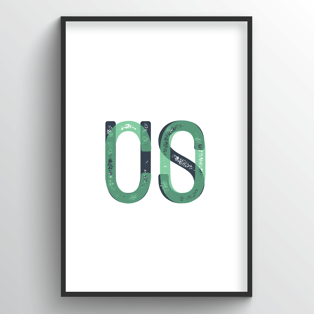 "Colorado Word Art Print - ""Initials"" - Point Two Design"