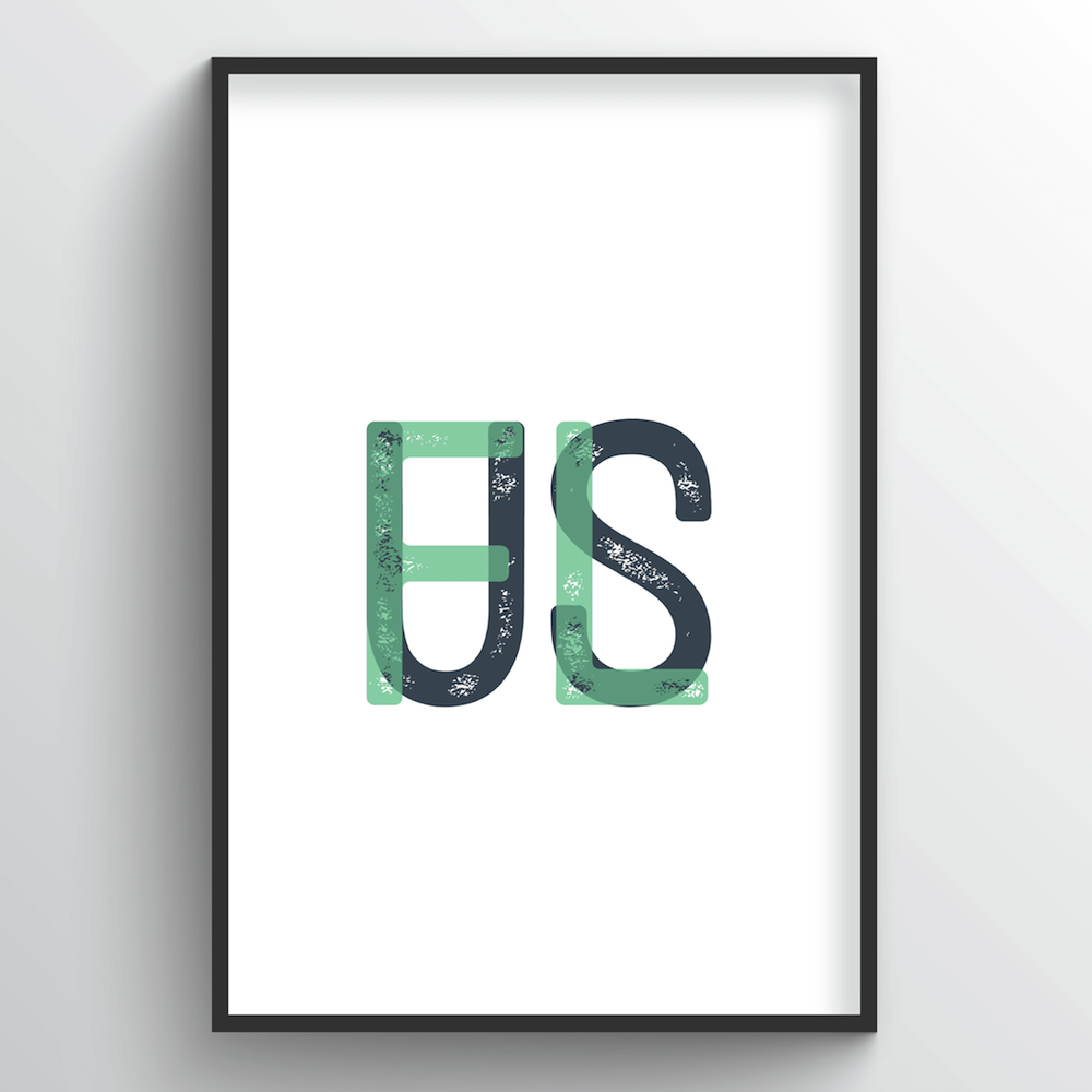 "Florida Word Art Print - ""Initials"" - Point Two Design"
