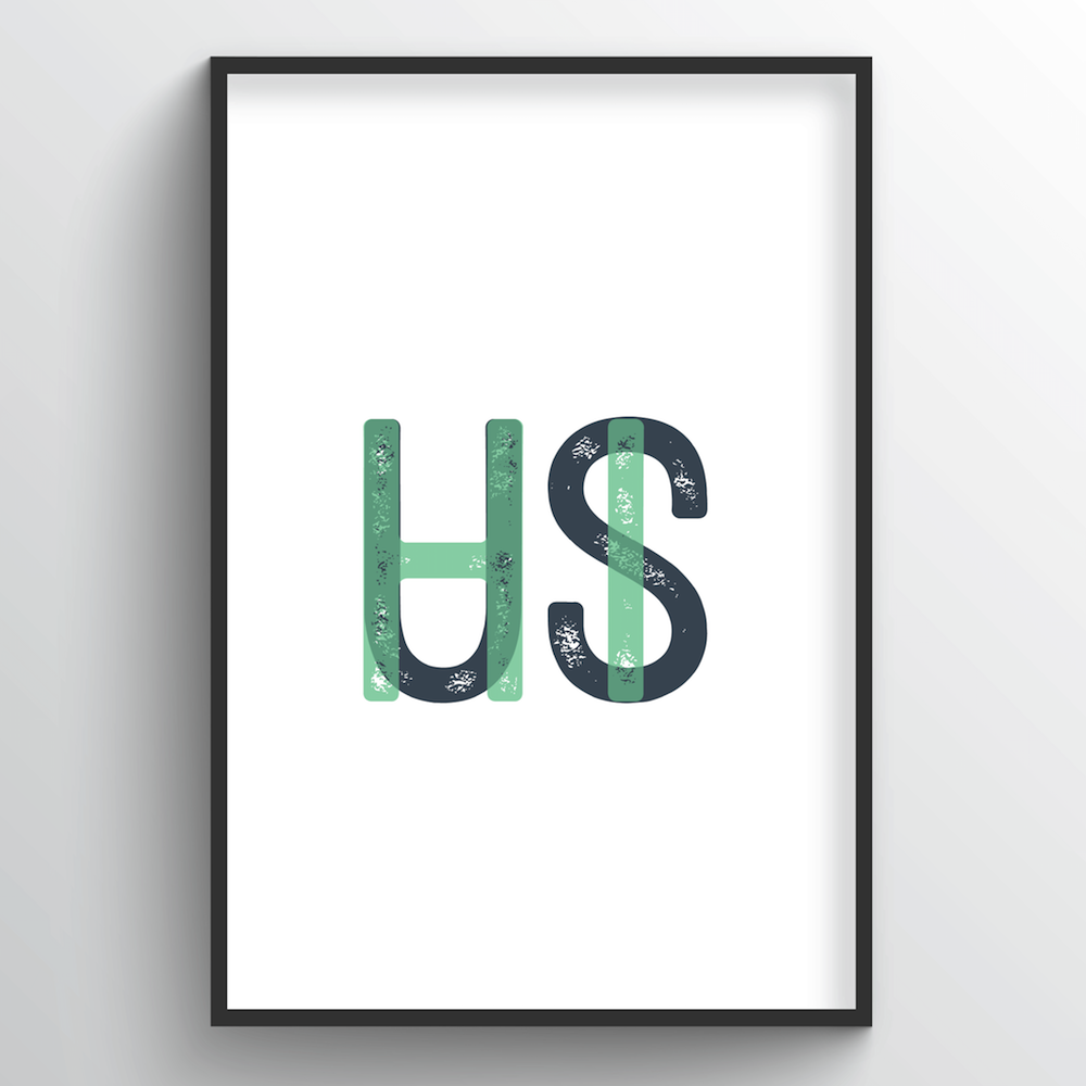 "Hawaii Word Art - ""Initials"""