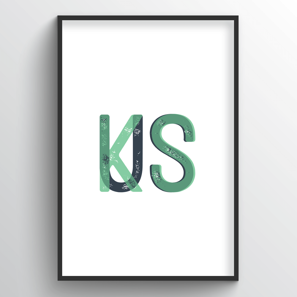 "Kansas Word Art - ""Initials"""