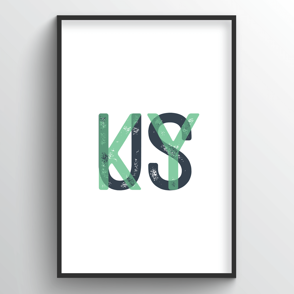 "Kentucky Word Art - ""Initials"""