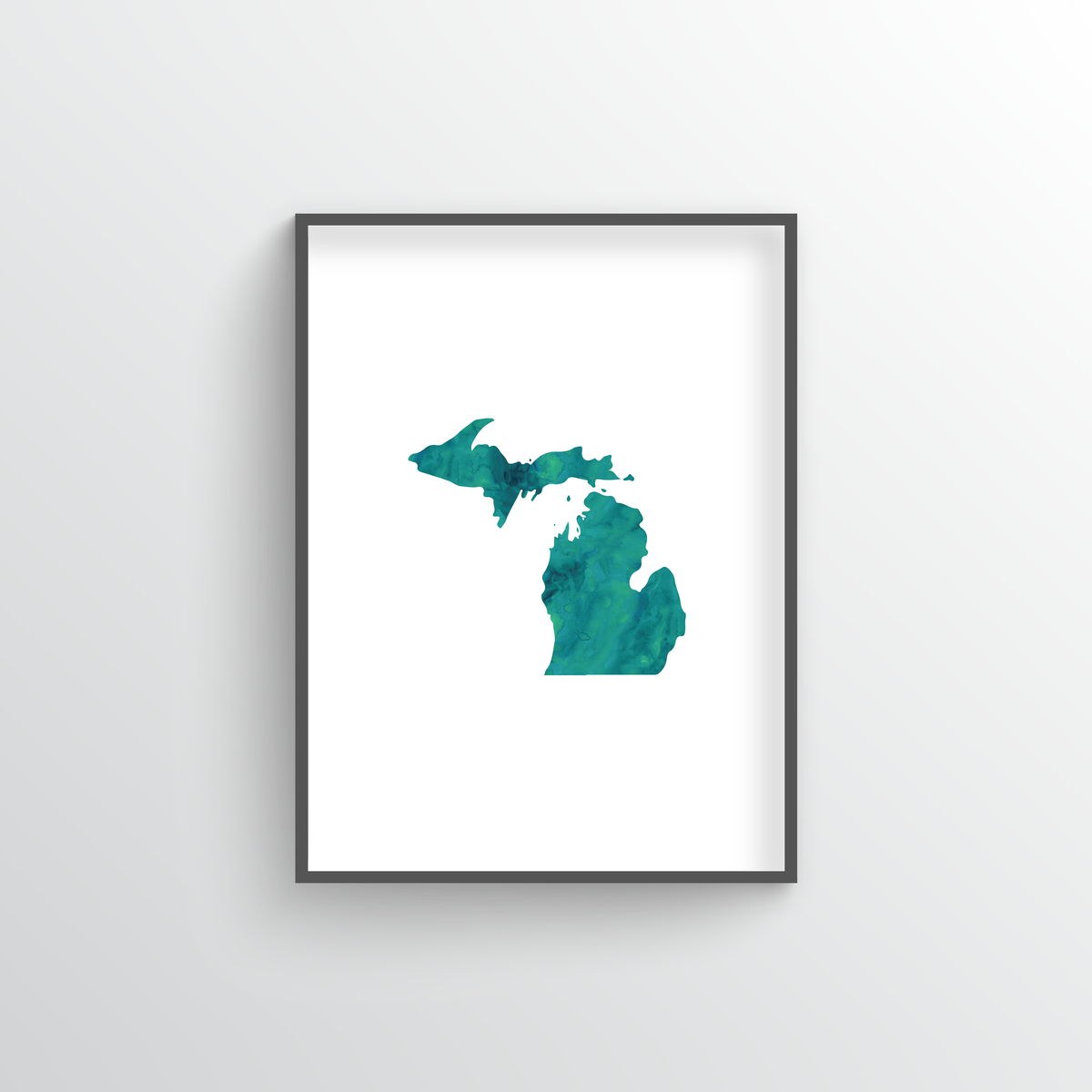 "Michigan Word Art Print - ""Watercolor"""