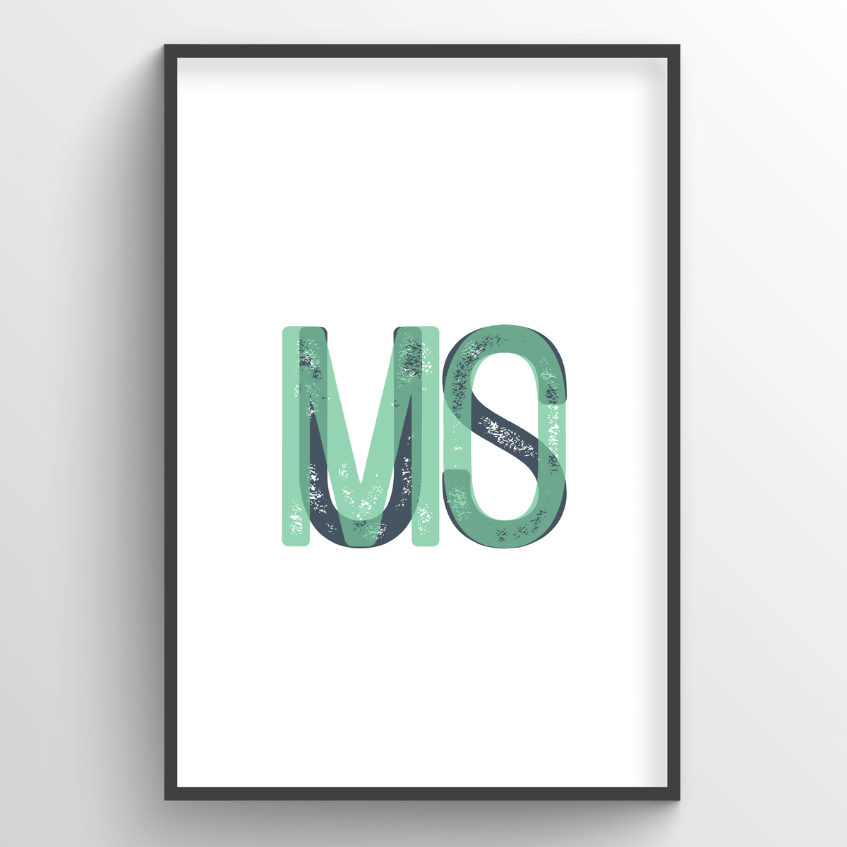 "Missouri Word Art - ""Initials"""