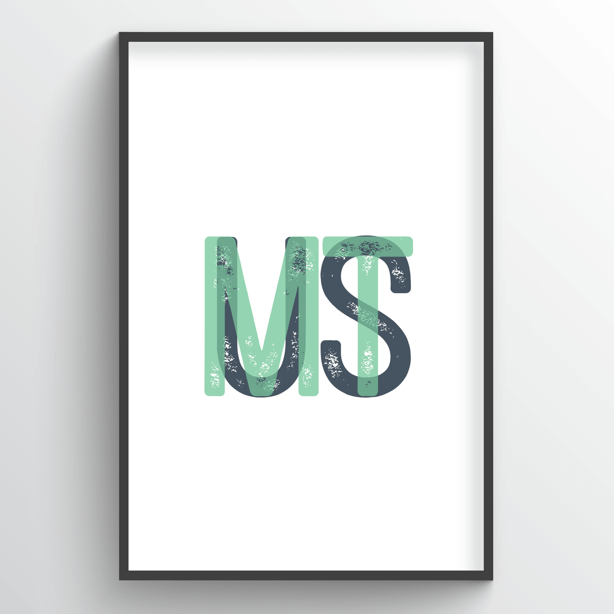 "Montana Word Art - ""Initials"""