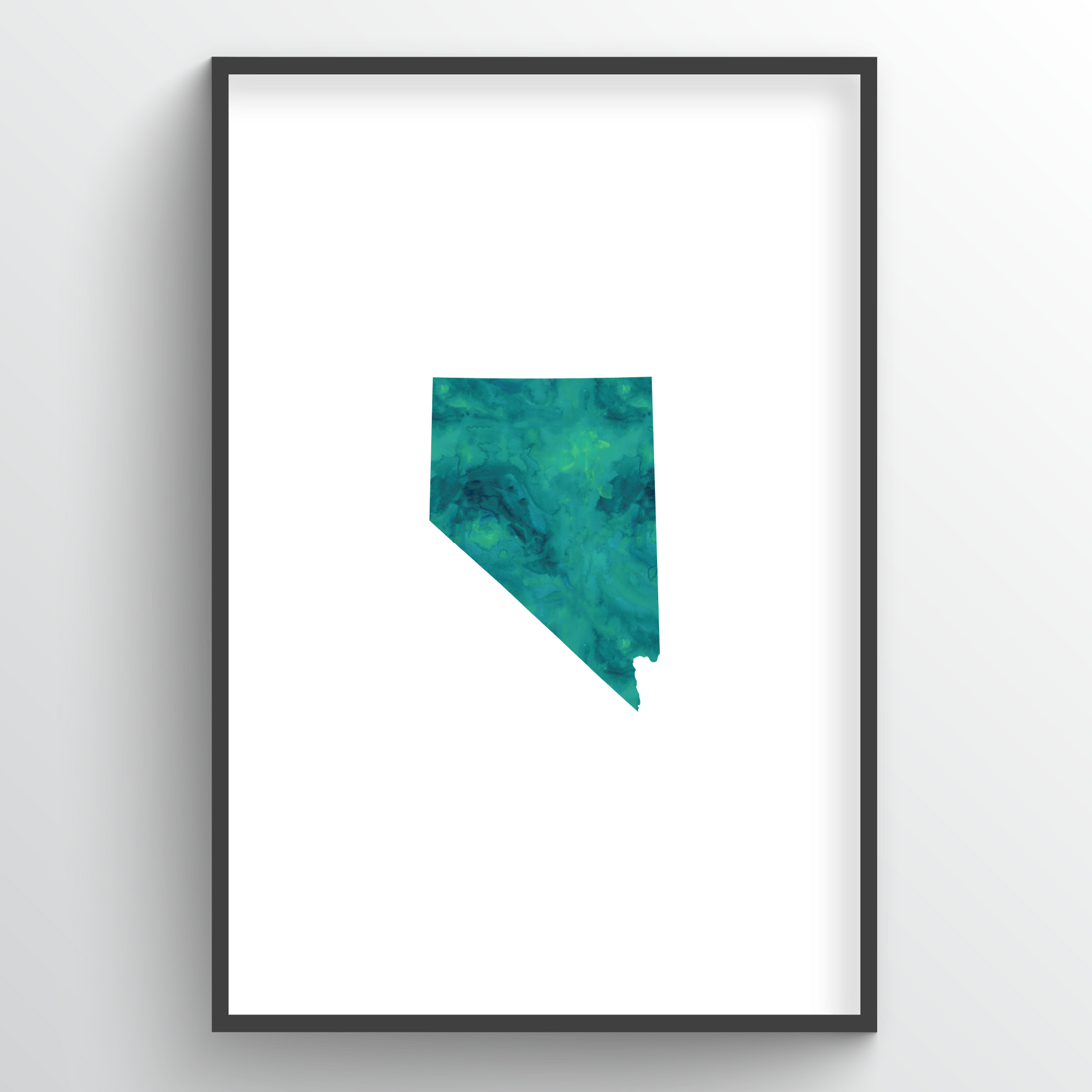 "Nevada Word Art Print - ""Watercolor"""