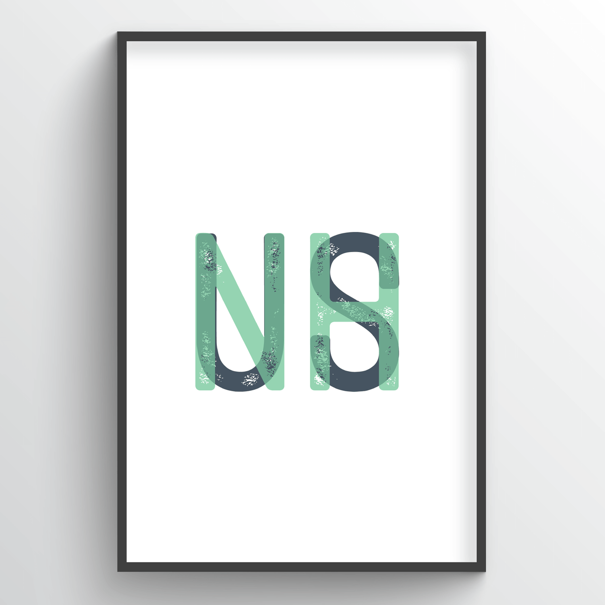"New Hampshire Word Art - ""Initials"""