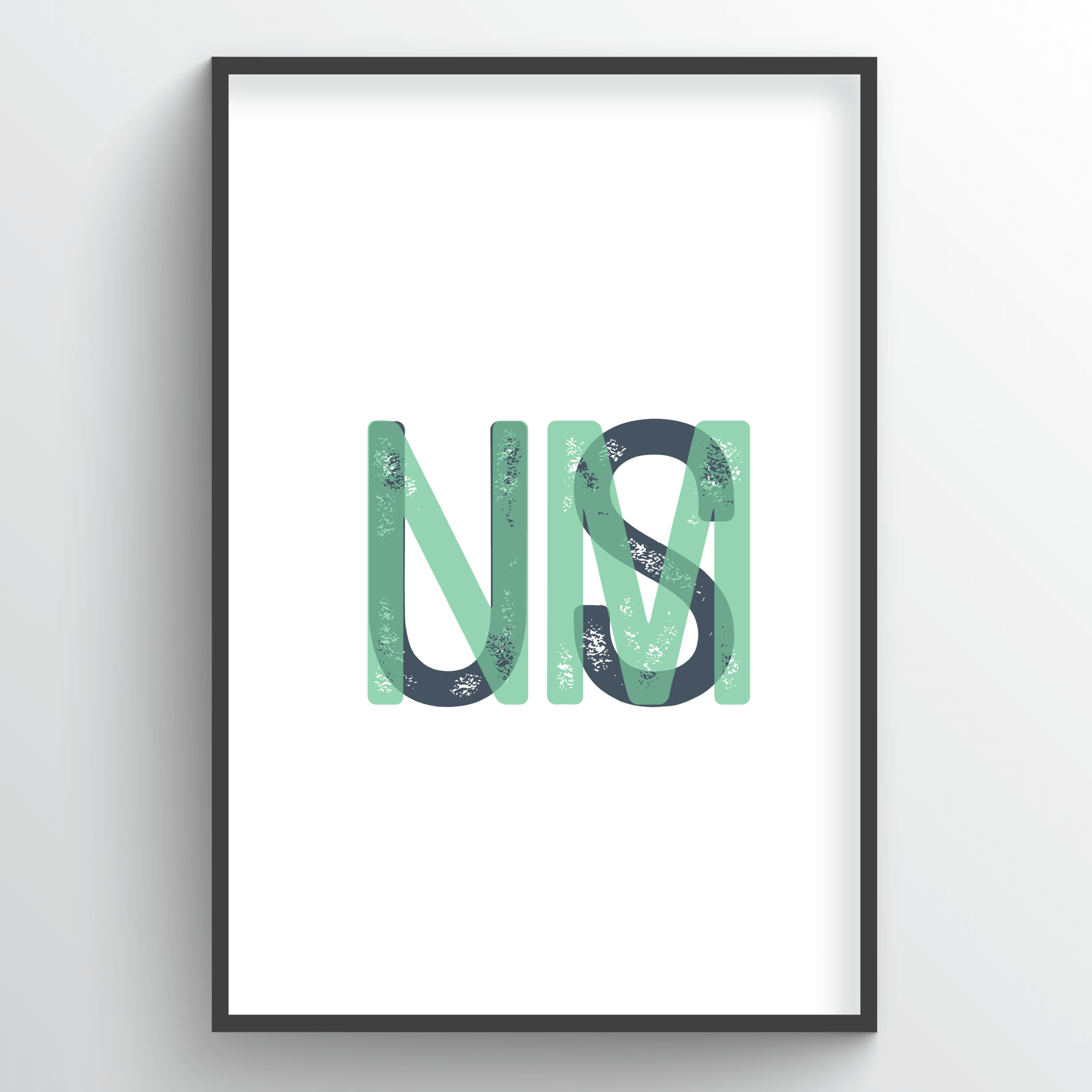 "New Mexico Word Art - ""Initials"""