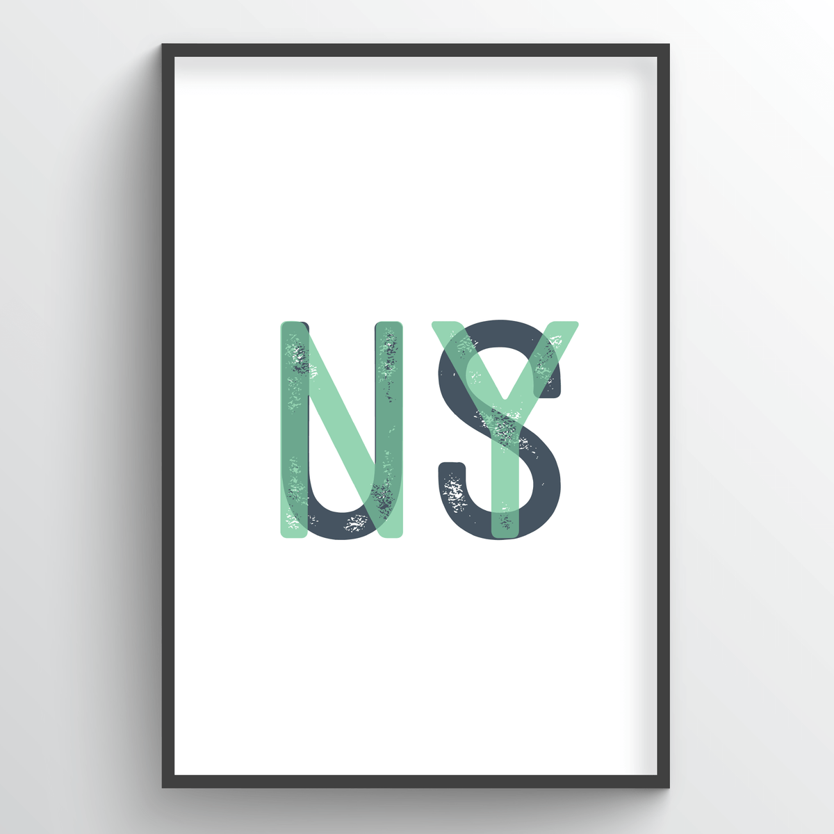 "New York Word Art - ""Initials"""