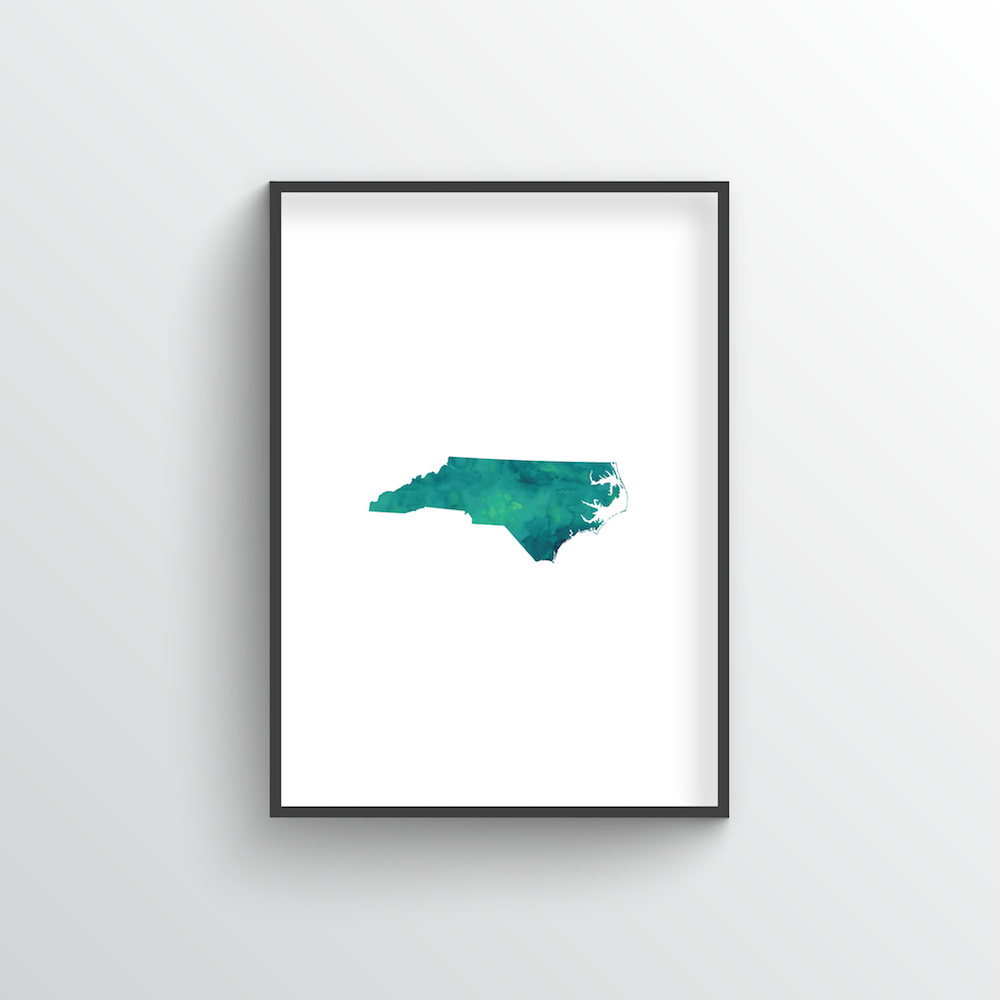 "North Carolina Word Art Print - ""Slogan"""