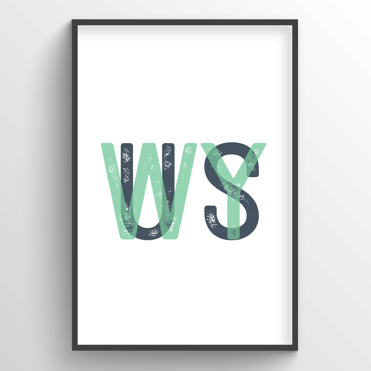 "Wyoming Word Art - ""Initials"""