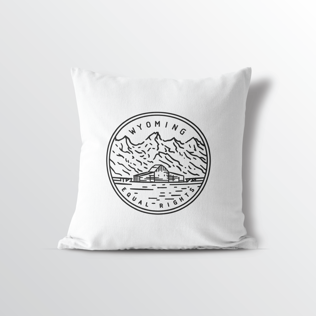 Wyoming State Crest Throw Pillow