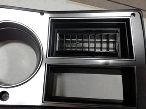 1981-1983 dash bezel with brushed aluminum and silver trim, AC vent, and passenger side plate
