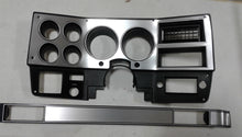 Load image into Gallery viewer, 1981-1983 dash bezel with brushed aluminum and silver trim, AC vent, and passenger side plate