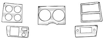 78-80 Dash Bezel Covers