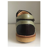 Angulus Double Velcro Strap Brown / Green