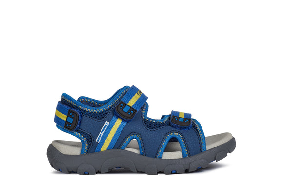 Geox Strada Sandal Blue and Yellow
