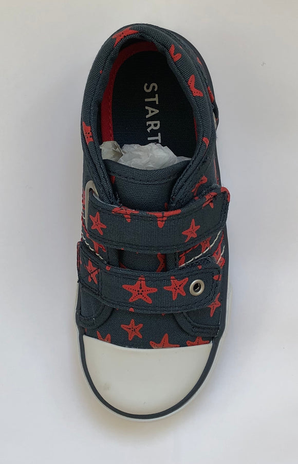Start-rite Canvas Zip -Navy/red stars