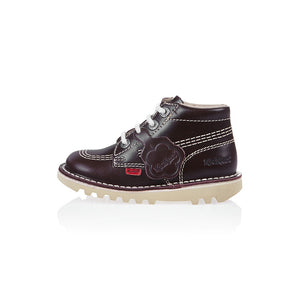 Kickers Kick Hi Classic Infant Dark Red