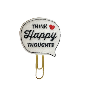 Think Happy Thoughts Paper Clip