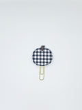 Black Plaid Pumpkin Paper Clip