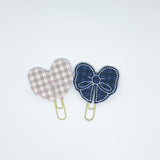 Plaid Bow Paper Clips