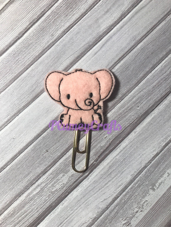 Pink Elephant Paper Clip