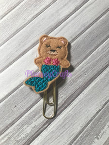 Bear mermaid paper clip