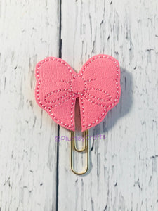 Pink Bow Paper Clip