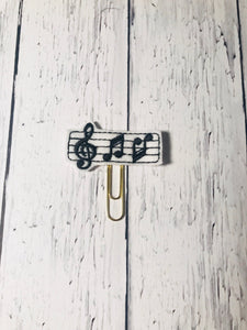 Music Notes Paper Clip