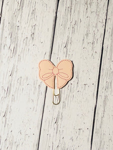 Blush Pink Bow Paper Clip
