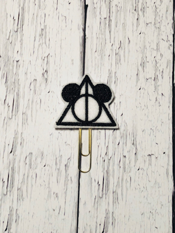 Mouse Deathly Hallow Paper Clip