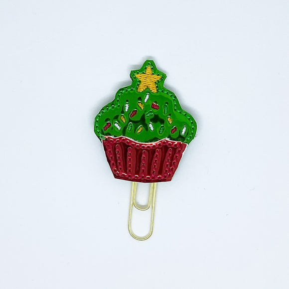 Holiday Cupcake Paper Clip