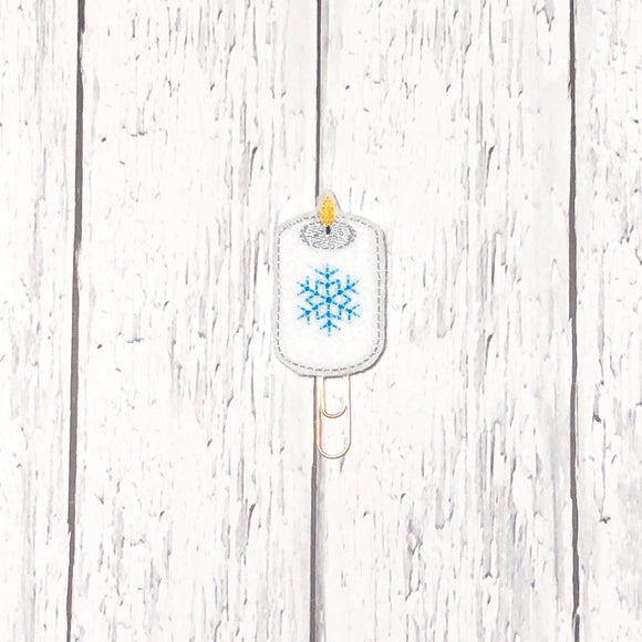 Winter Candle Paper Clip