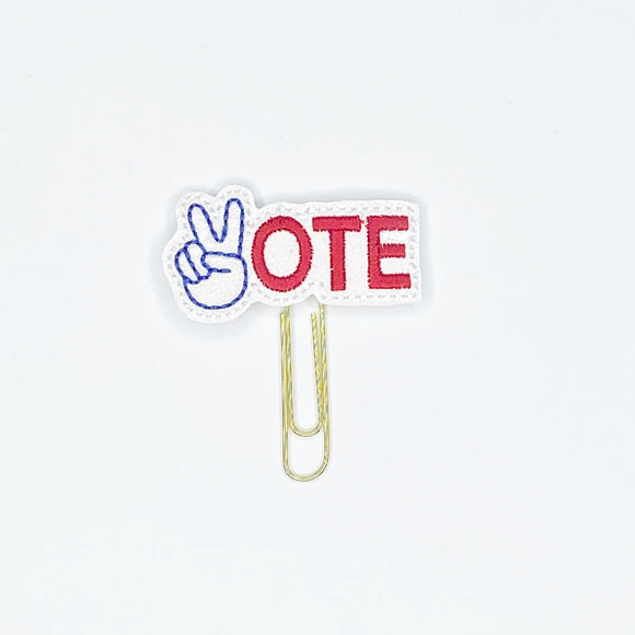 Peace Vote Paper Clip