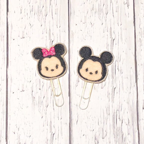 Girl and Boy Mouse Paper Clip