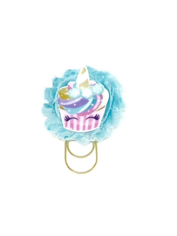 Unicorn Flower Wide Paper Clip