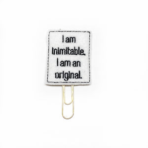 I am Inimitable Paper Clip