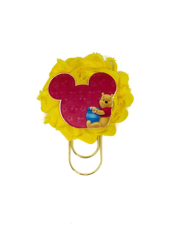 Honey Bear Flower Wide Paper Clip