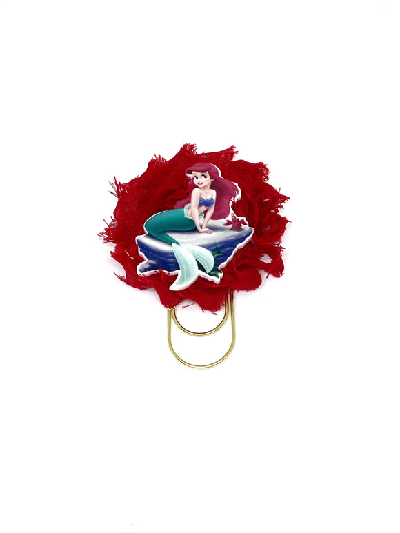 Mermaid Flower Wide Paper Clip