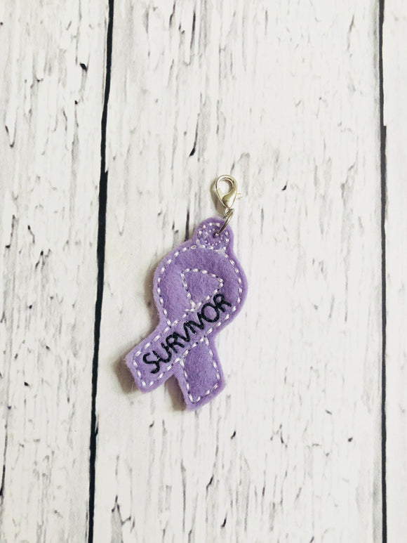 Purple Survivor Ribbon Charm
