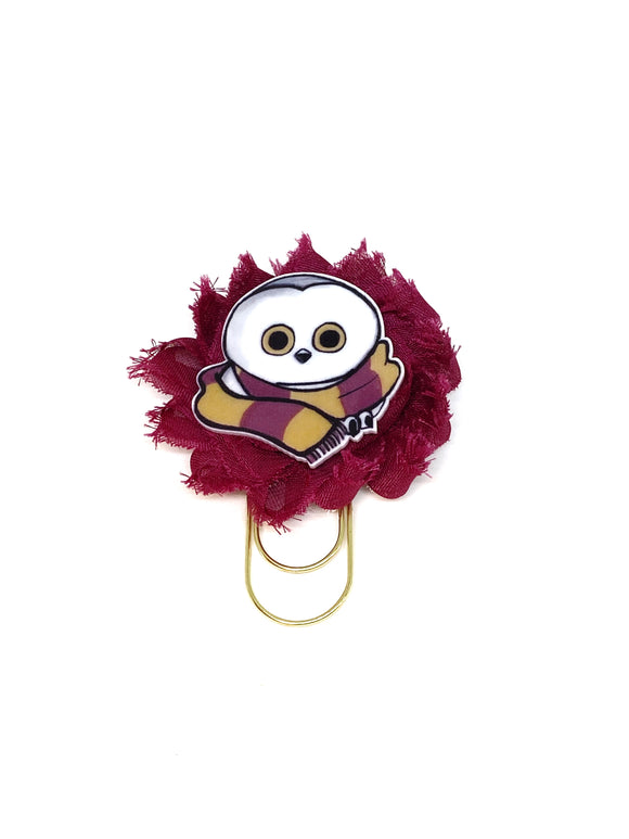 Owl Flower Wide Paper Clip
